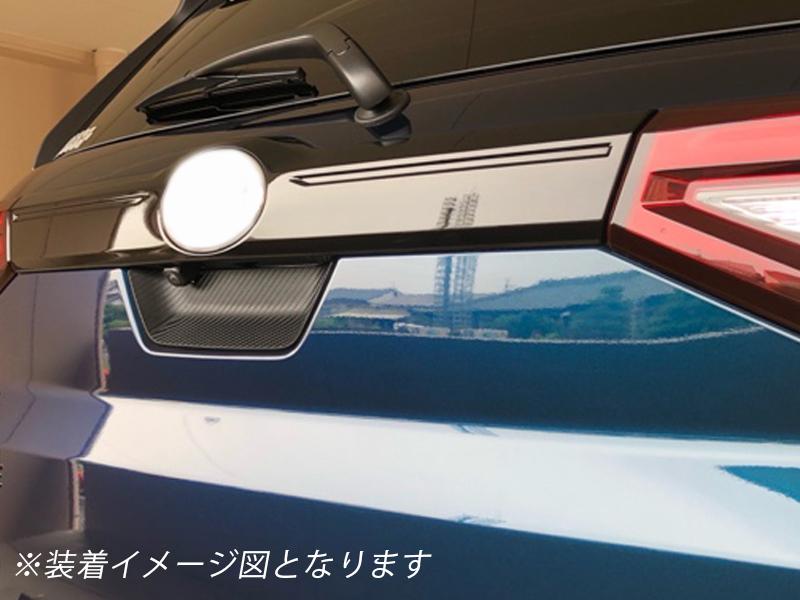 ダイハツ ロッキー 200系 210系 カーボン調 リア ドア ハンドル カバー トランク バック ハッチ ゲート ラバータイプ