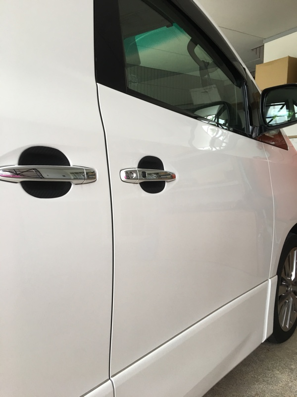トヨタ アルファード ヴェルファイア 20系 カーボン調 ドア ハンドル カバー プロテクター カバー ガーニッシュ 皿 ラバータイプ