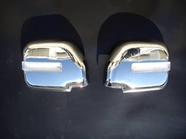 【 在庫処分 】 トヨタ ランドクルーザー プラド90 LED クロームメッキドアミラーカバー
