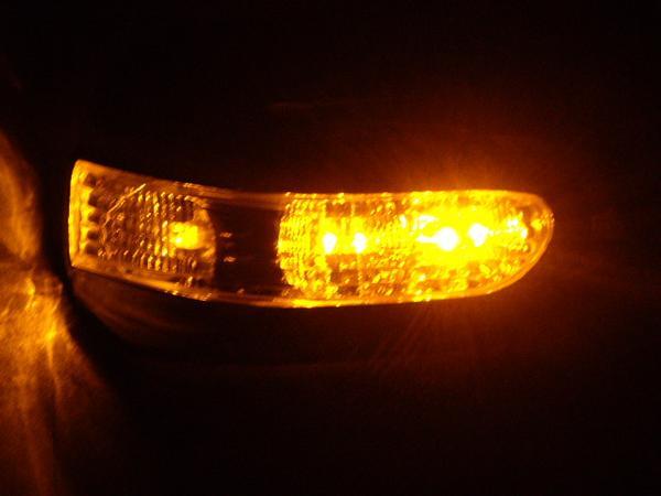 !トヨタ プリウス NHW20 LEDメッキドアミラー交換式