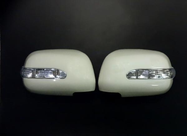 !トヨタ ハリアー30系35系RX330 LED ドアミラーカバー (未塗装タイプ)