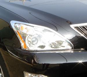 !トヨタ ハリアー30系35系 クロームメッキヘッドライトリング