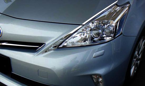 トヨタ プリウスα ZVW40W ZVW41W 前期 メッキ ヘッド ライト ガーニッシュ アイライン