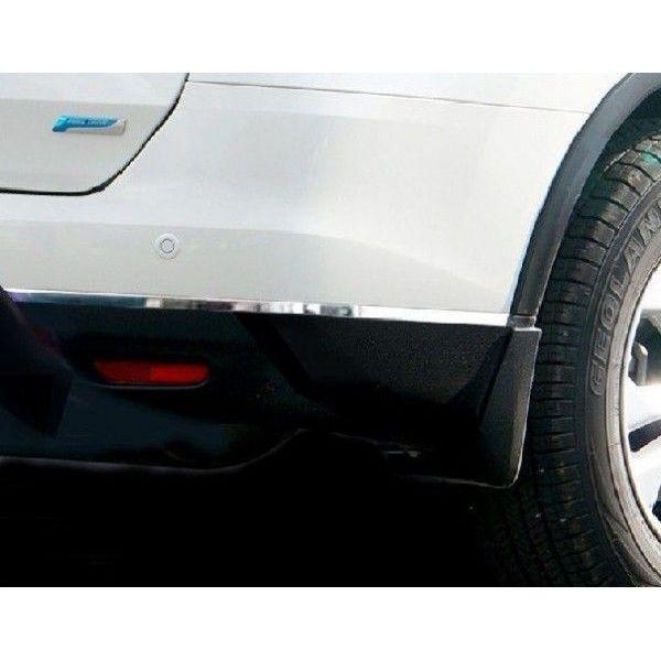 !日産 エクストレイル X-TRAIL T32 リア バンパーコーナーモール サイドモールガーニッシュ 鏡面メッキ仕上げ